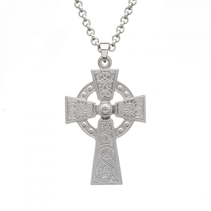 Celtic Warrior Celtic Cross - Large - WC4-SIL