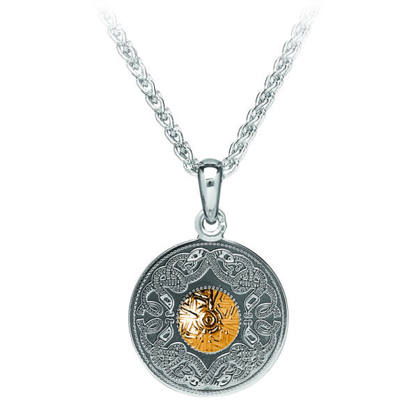 Celtic Warrior Silver Pendant with 18K Gold Bead WP1B-SIL