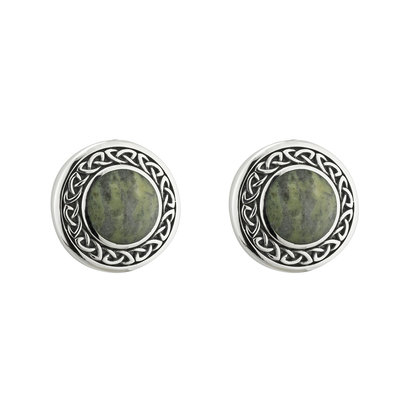 Connemara Marble Round Celtic Drop Earrings - S33773