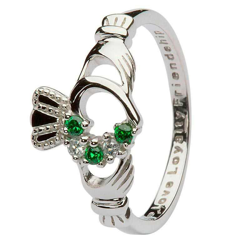 Claddagh Ring Open Heart Silver - SL75GRCZ