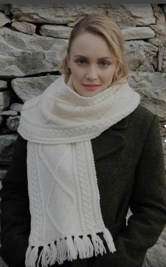 Merino Wool Aran Scarf - S173 669