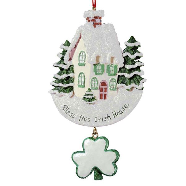 Bless This Irish House Ornament